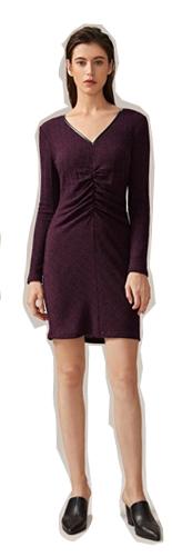 SHEIN Трикотажное платье со сборками