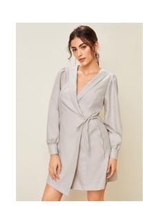 SHEIN Пиджак-платье с оригинальным воротником