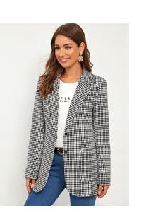 Однобортный хаундстут пиджак