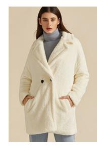 SHEIN Премиум Плюшевое пальто с карманом