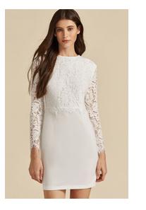 SHEIN Премиум Облегающее кружевное платье с молнией сзади