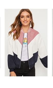 SHEIN Кроить и шить вельветовая куртка с молнией