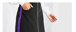 SHEIN Контрастная юбка с необработанным низом