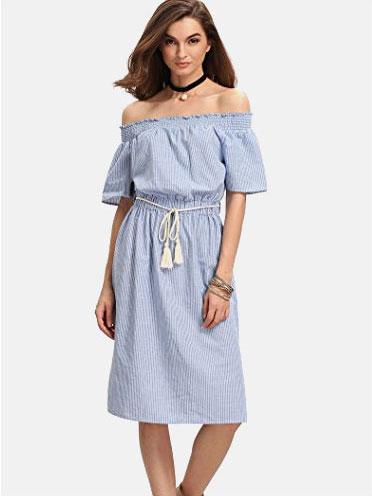 20cc7e726d $13.99, SheIn Women's Off Shoulder Striped Ruffle Short Sleeve Blouse Top  $17.99. amazon · amazon · amazon · amazon
