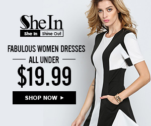 SheIn -Your Online Fashion Bleck&White Dress